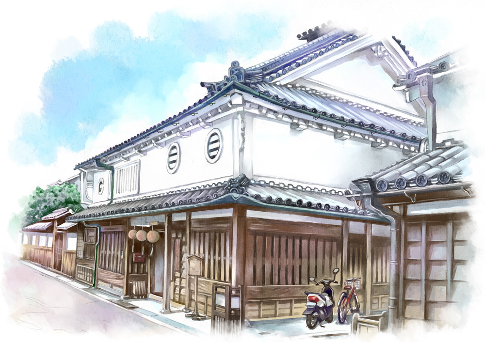 1000x706 Japanese House Drawing Japanese Architecture Japan