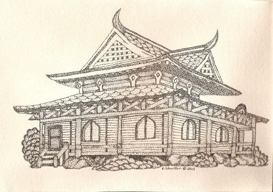 900x633 Japanese Pagoda Tea House By Kellygirl1
