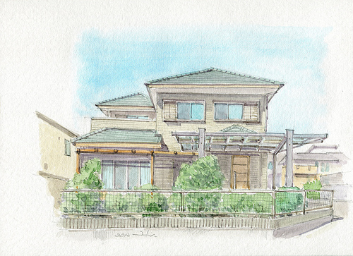 500x363 The World Sketcher Mr. M's House In Japan