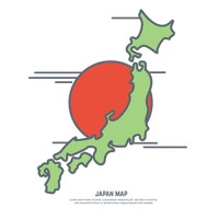 200x200 Japan Asia Map Maps Geography Cartography Topography Shape Shapes