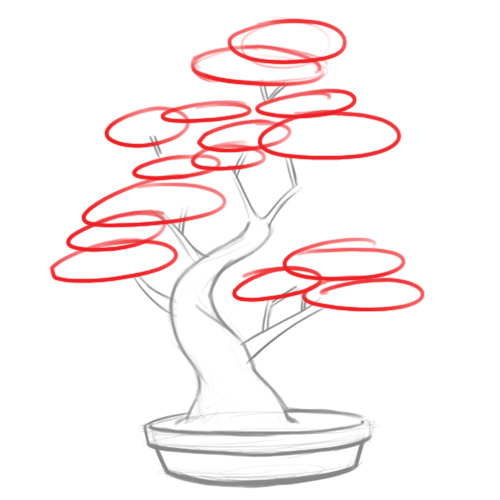 500x500 How To Draw A Bonsai Tree 8 Steps (With Pictures)