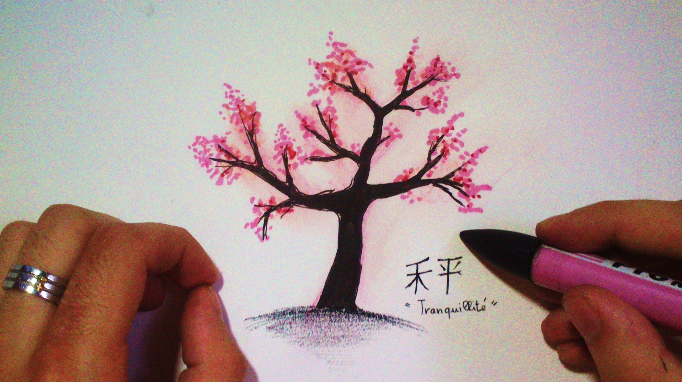 2249x1262 How To Draw A Japanese Cherry Tree (Time Lapse)