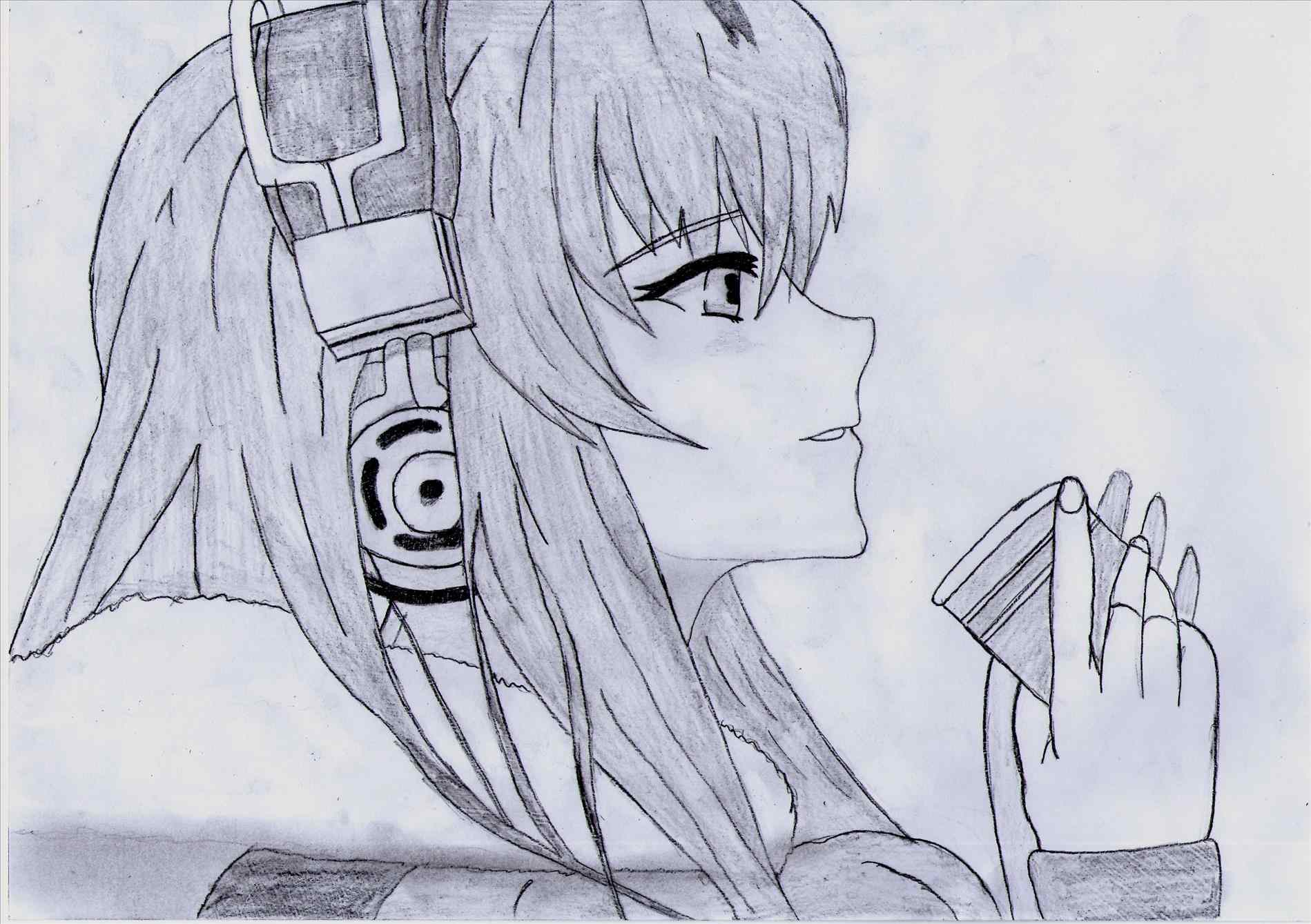 1899x1339 Emma Place And Her Hs Sider A Japanese Anime Drawing In Pencil