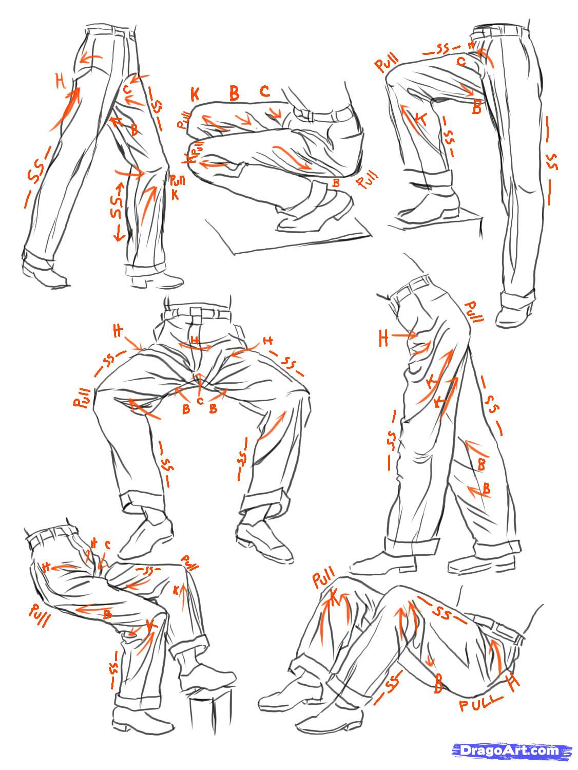 1126x1499 How To Sketch Anime Clothes, Step By Step, Anime People, Anime