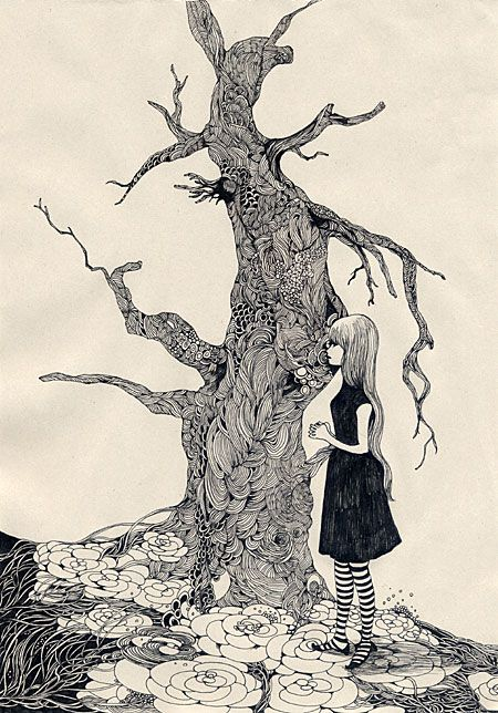 450x644 Pen And Indian Ink Drawings By Japanese Artist, Midori Yamada