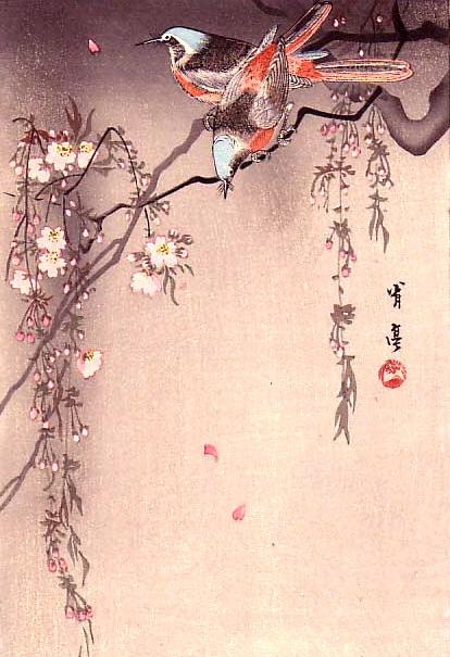 414x605 Japanese Bird Print Nina Polli