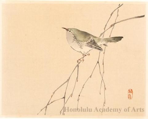 481x386 Kono Bairei Bird On A Branch (Descriptive Title)