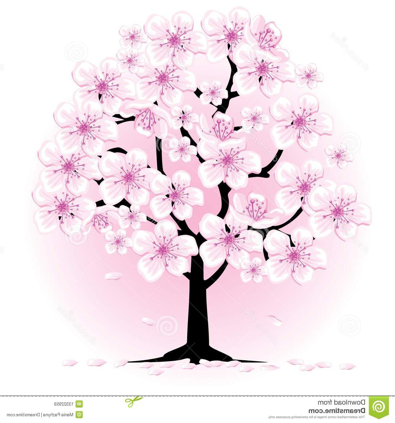 1300x1390 Drawing Of A Cherry Blossom Tree Top 10 Cherry Tree Royalty