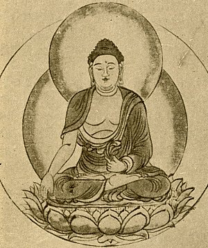 300x358 Ashuku Buddha Painting
