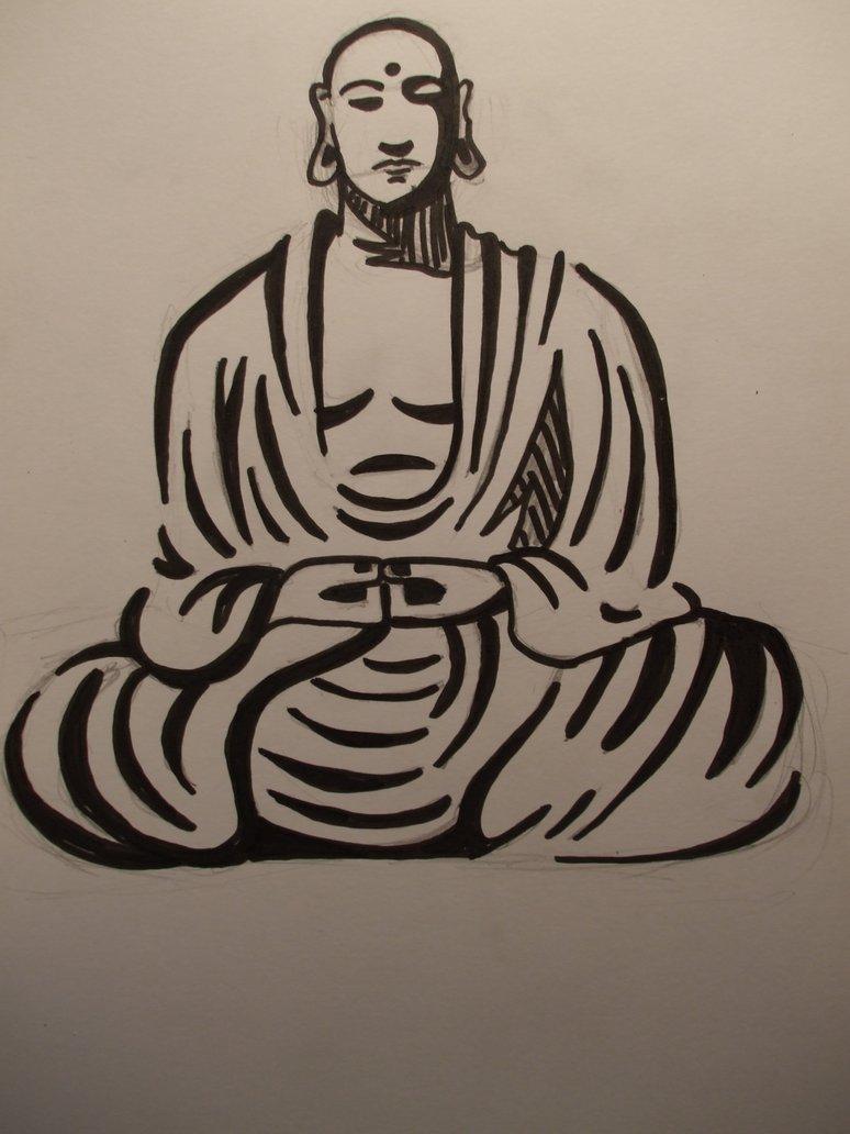 774x1032 Buddha Drawing By Aneirin Aryon