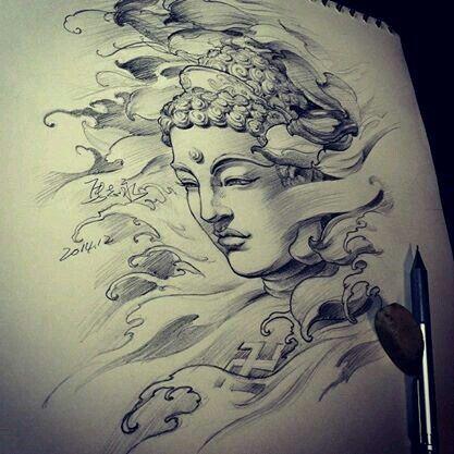 417x417 Pin By Inga On Tattoo Tattoo, Buddha