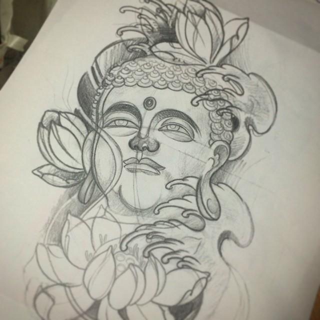 640x640 Sketch buddha buddhatattoo tattoosketch flash japanese inprogress