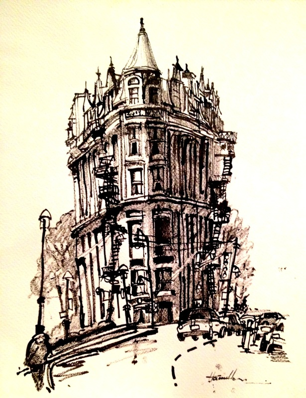 615x800 Found Twig And Japanese Ink Drawing Of The Flatiron Building