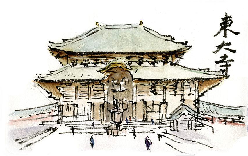 853x538 Tradition And Modernity Around Japan Urban Sketchers