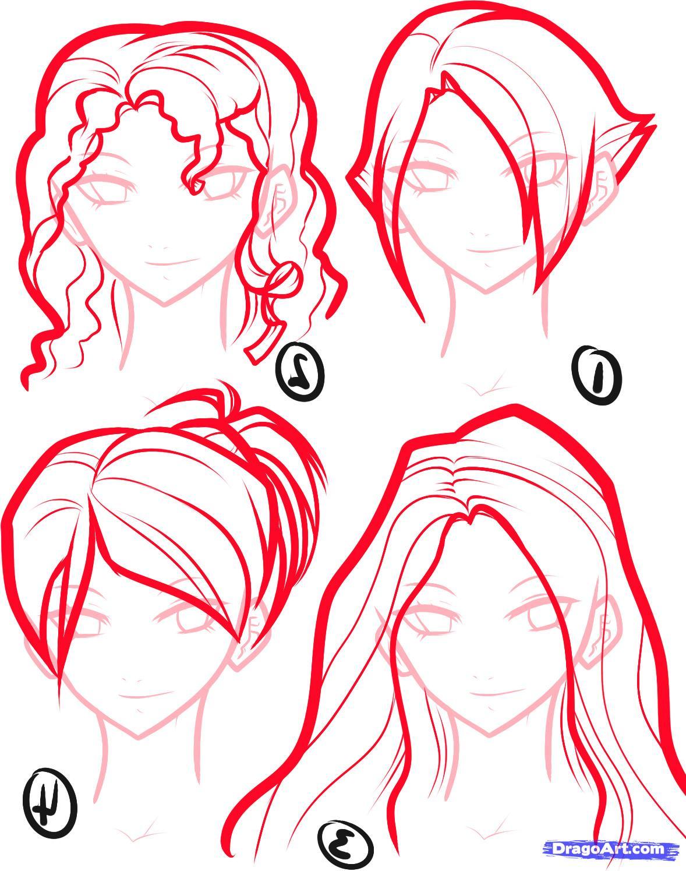 1178x1495 How To Draw Anime Draw Anime Hair, Step By Step, Anime Hair
