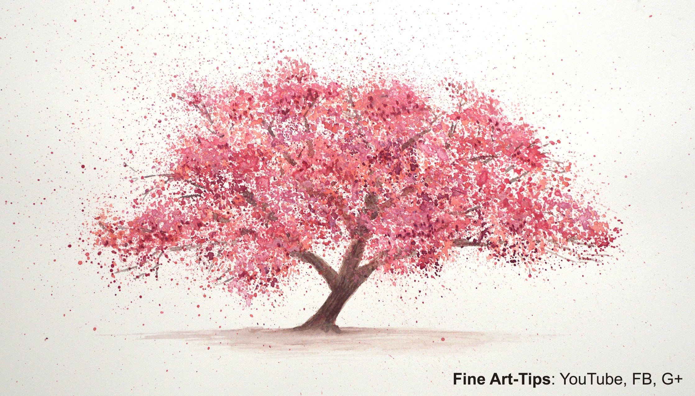 2236x1276 How To Paint A Cherry Tree In Watercolor