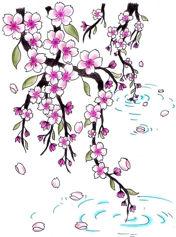 600x808 Cherry Blossoms For Jen By Jen Van