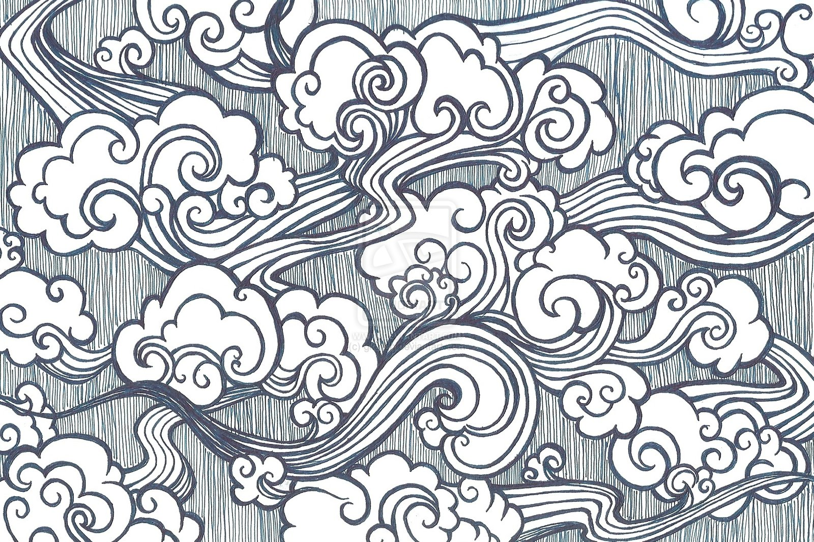 1600x1066 Oriental Cloud Drawing Oriental Clouds By Gkelleh