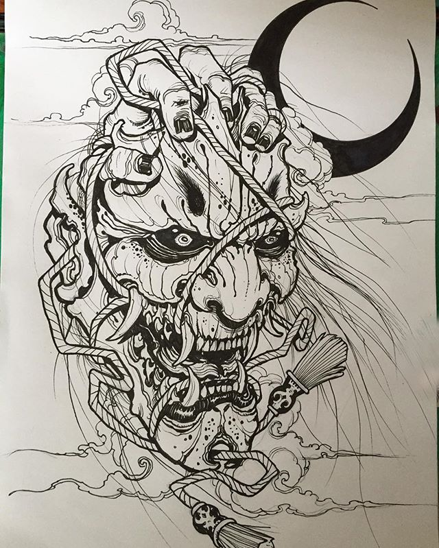 640x799 337 Best Hannya Mask Images On Japan Tattoo, Japanese