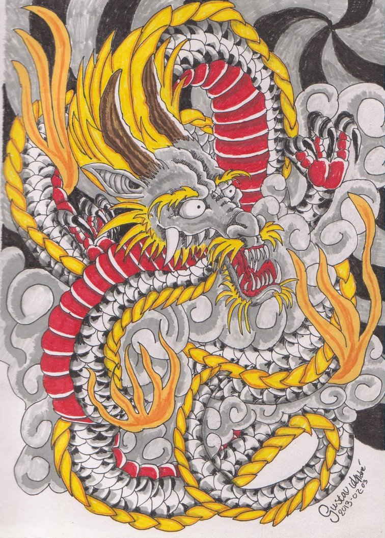 756x1058 Japanese Dragon By Nicoraven