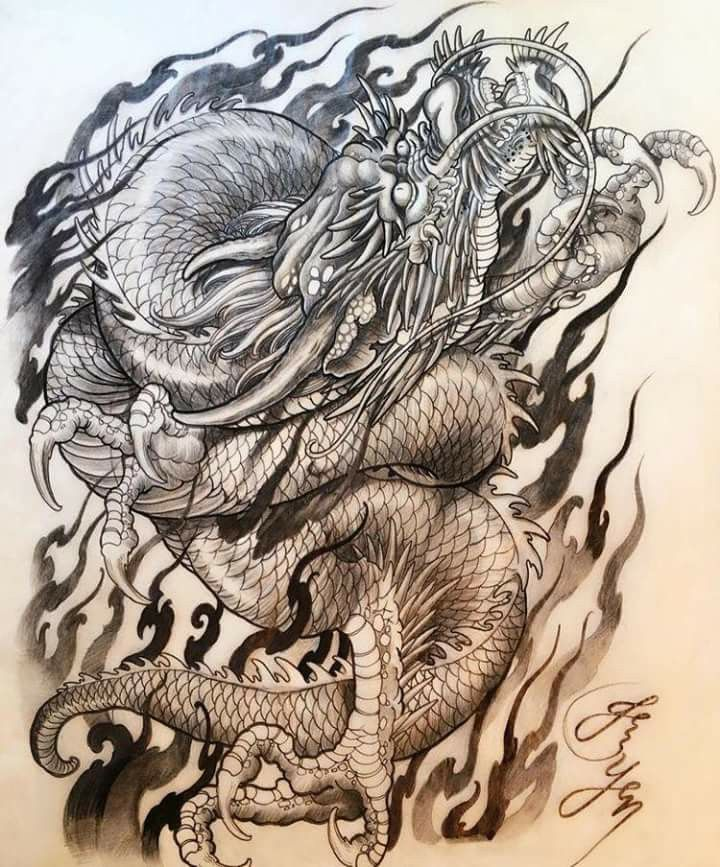 720x867 Pin By Zen On Dragons, Tattoo