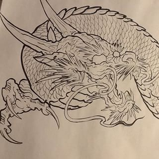 320x320 How To Draw A Japanese Dragon