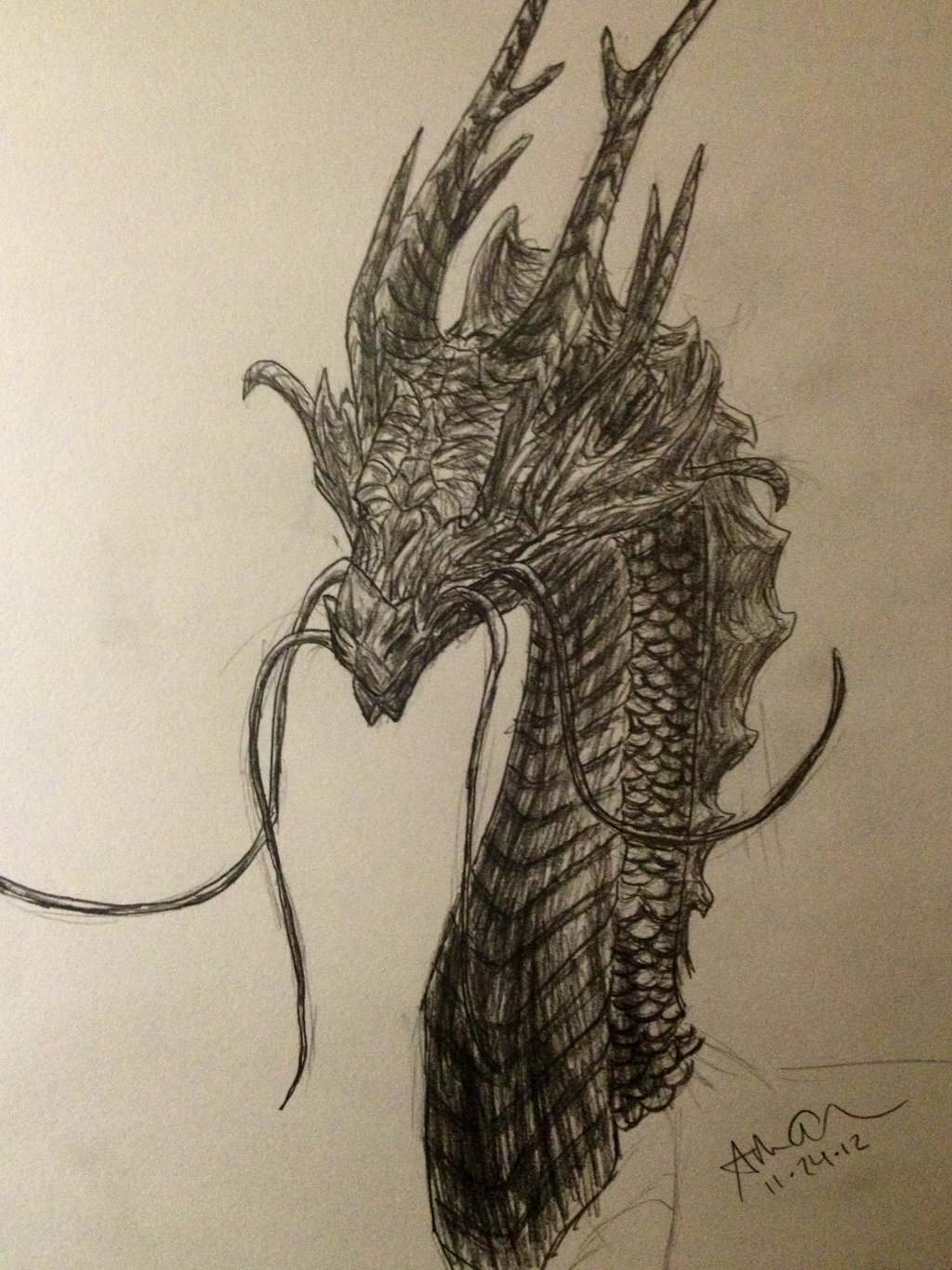 Japanese Dragon Head Drawing at GetDrawings com | Free for