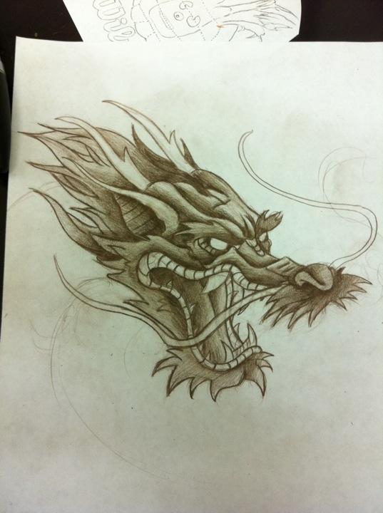 537x720 Dragon Head By Tricomiart On Tattoo