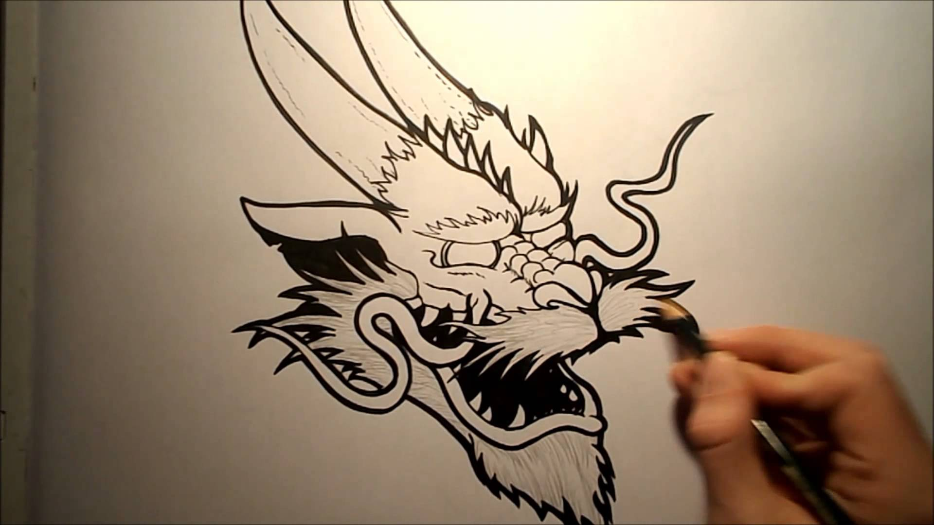 1920x1080 How To Draw A Chinese Dragon Head