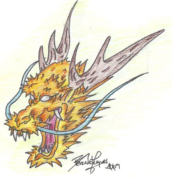 600x621 Japanese Dragon Head By Muddrifter