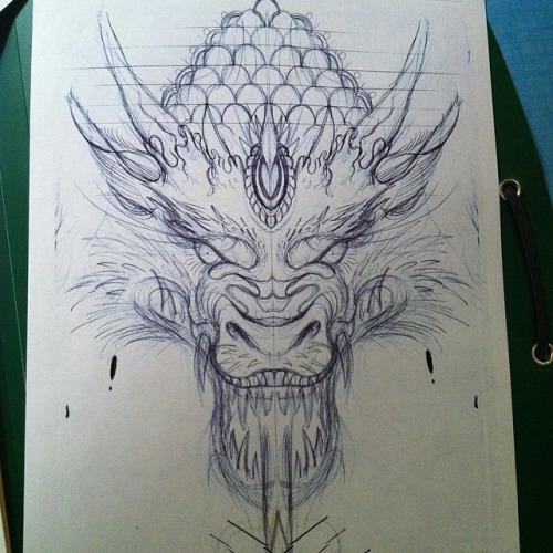 500x500 Dragon Head
