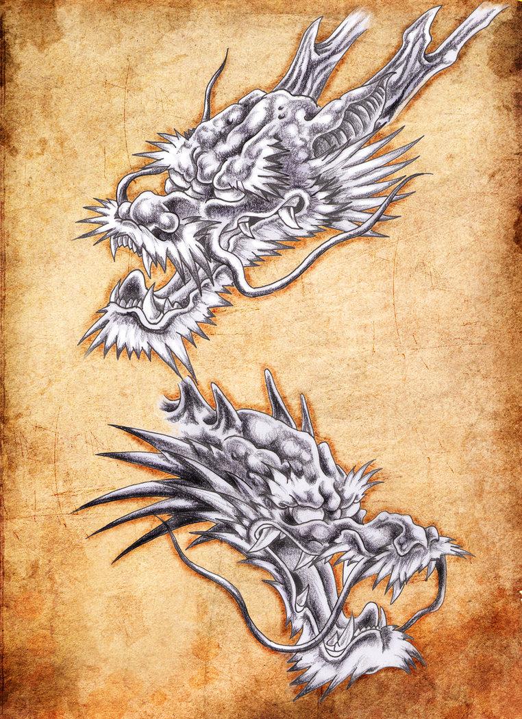 762x1049 Dragon Heads Art By ~tylerrthemesmer Dragons
