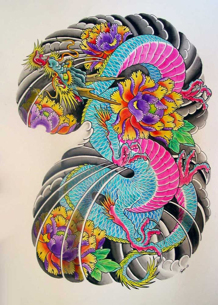 715x1000 Japanese Dragon Tattoos Designs