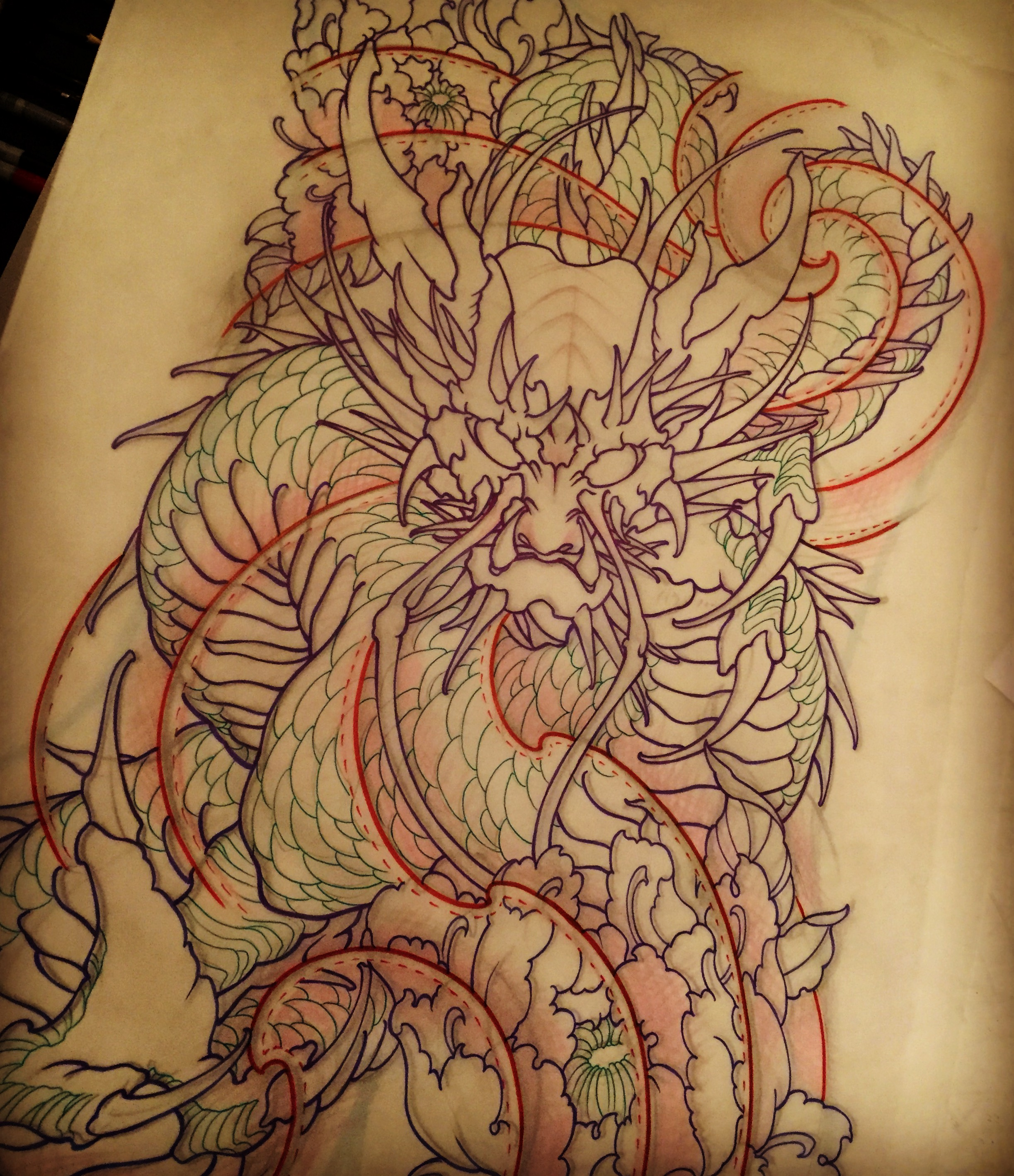 2446x2838 Amsterdam Tattoo 1825 Kimihito Dragon Japanese Style Tattoo Design