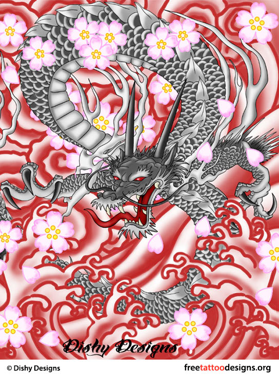 544x730 Japanese Dragon Tattoos