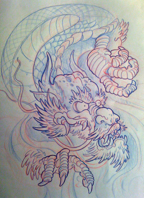 500x685 Japanese Dragon Filler By Michaelbrito
