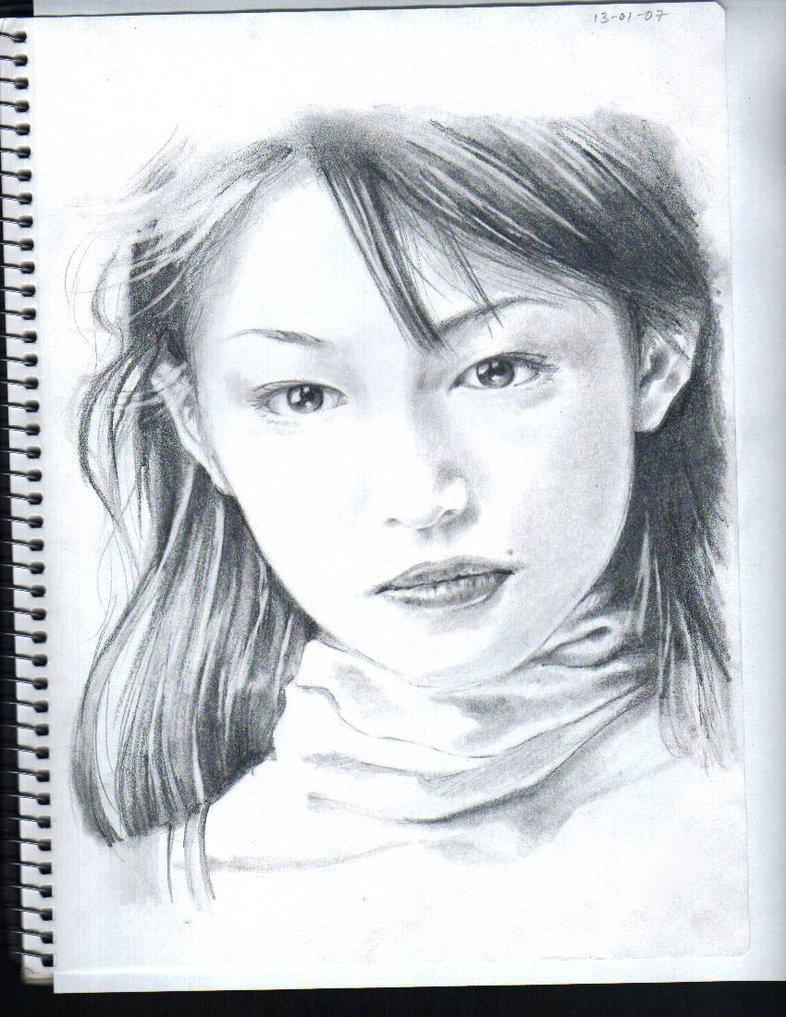 786x1017 Japanese Idol Pencil Drawing 2 By Isashi