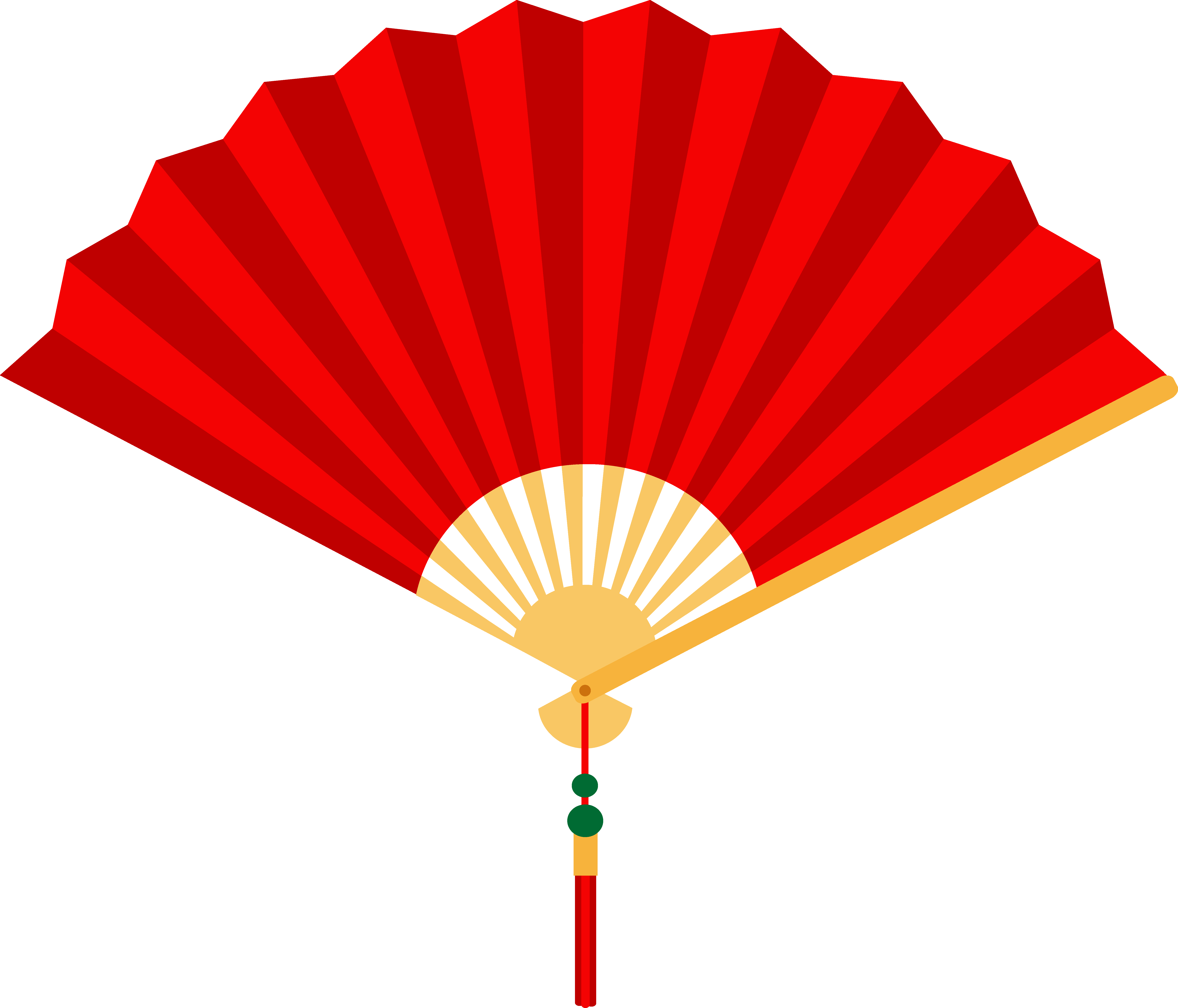 6718x5750 Red Chinese Hand Fan