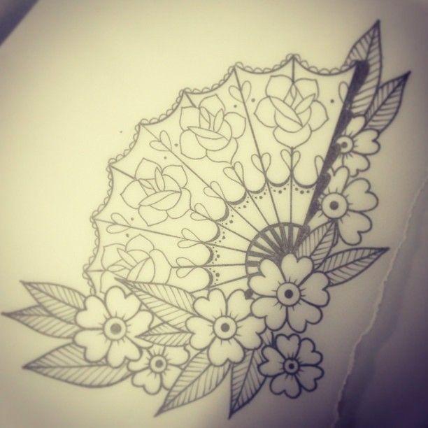612x612 Asian Fan Tattoo Designs