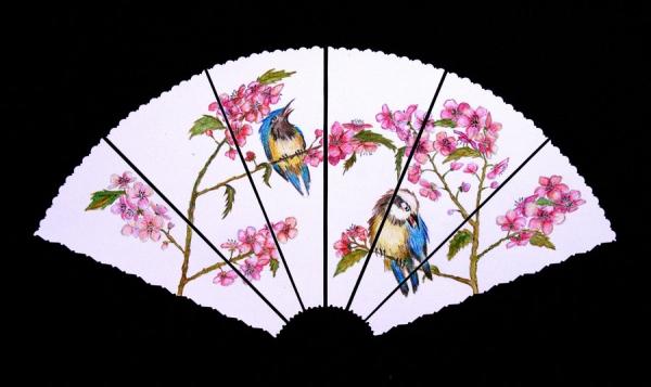 600x357 Japanese fan drawing Fan In Japanese Style Japanese Art