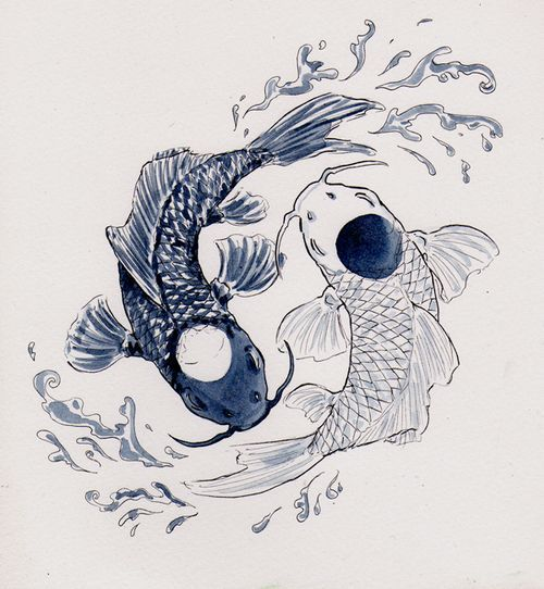 500x542 110 Best Japanese Koi Fish Tattoo Designs And Drawings Japanese