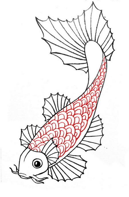 450x686 Draw A Koi Fish Koi, Fish And Japanese