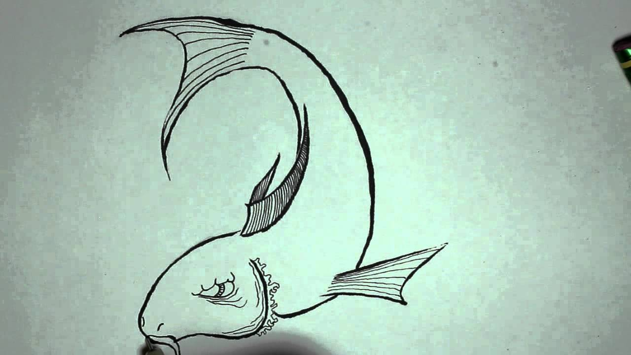 1280x720 How To Draw A Japanese Styled Fish