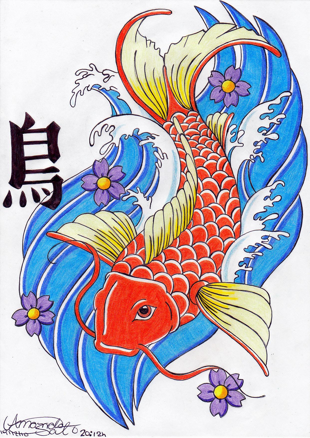 1242x1754 Japanese Koi Fish Drawings Koi Japanese Fish By Amanda18sato