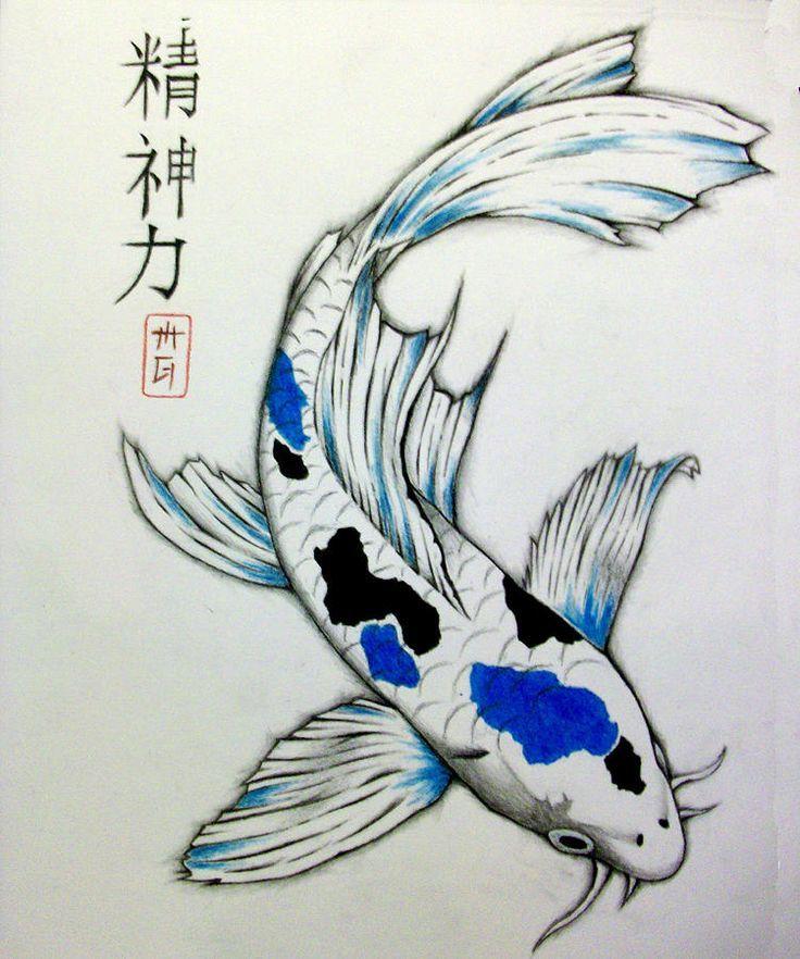 736x882 De Recherche D'Images Pour Japanese Fish Drawing