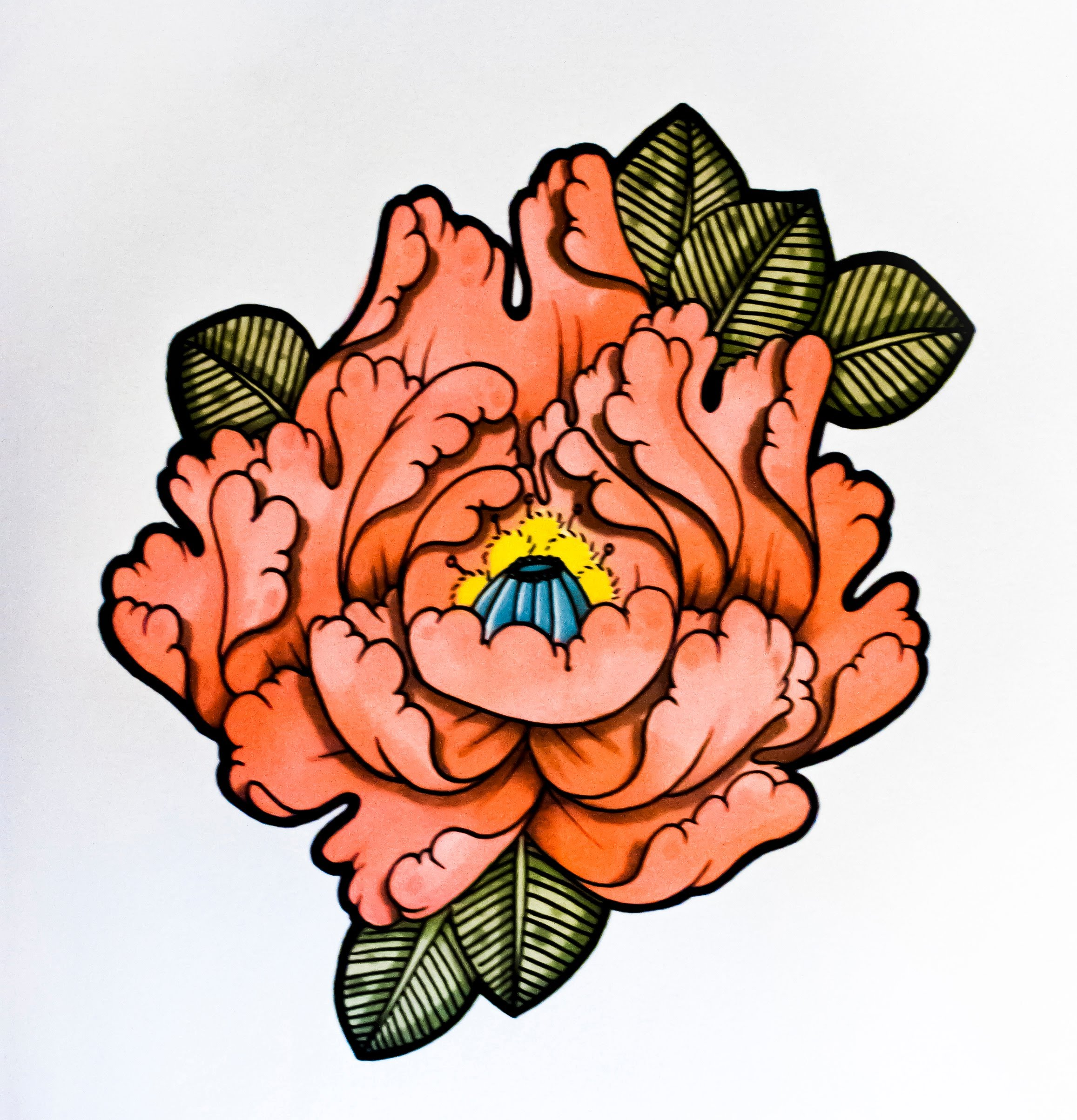 2314x2407 How To Draw A Flower Japanese Tattoo Style! By Thebrokenpuppet