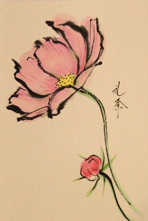 500x747 Ink Art Drawing Japanese Color Art Japanese By Artgalleryreina