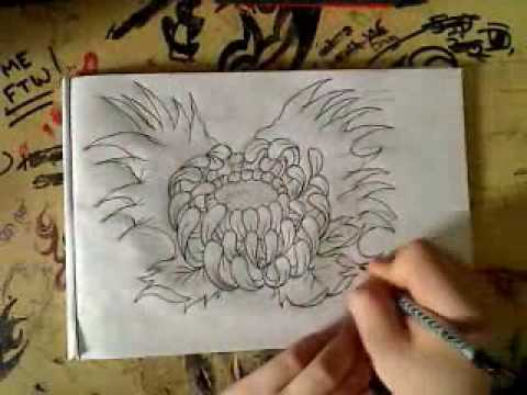 480x360 Japanese Flower Drawing