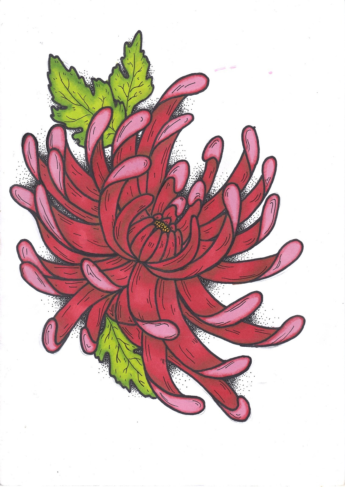 Japanese Flower Drawing at GetDrawings.com | Free for personal use ...