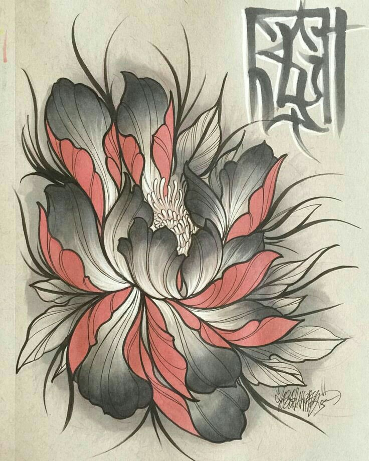 736x920 Pin By Tuan Art On Hoa Tattoo, Japanese And Flowers